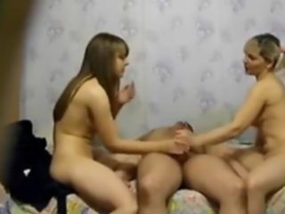 threesome fuck daughter mother